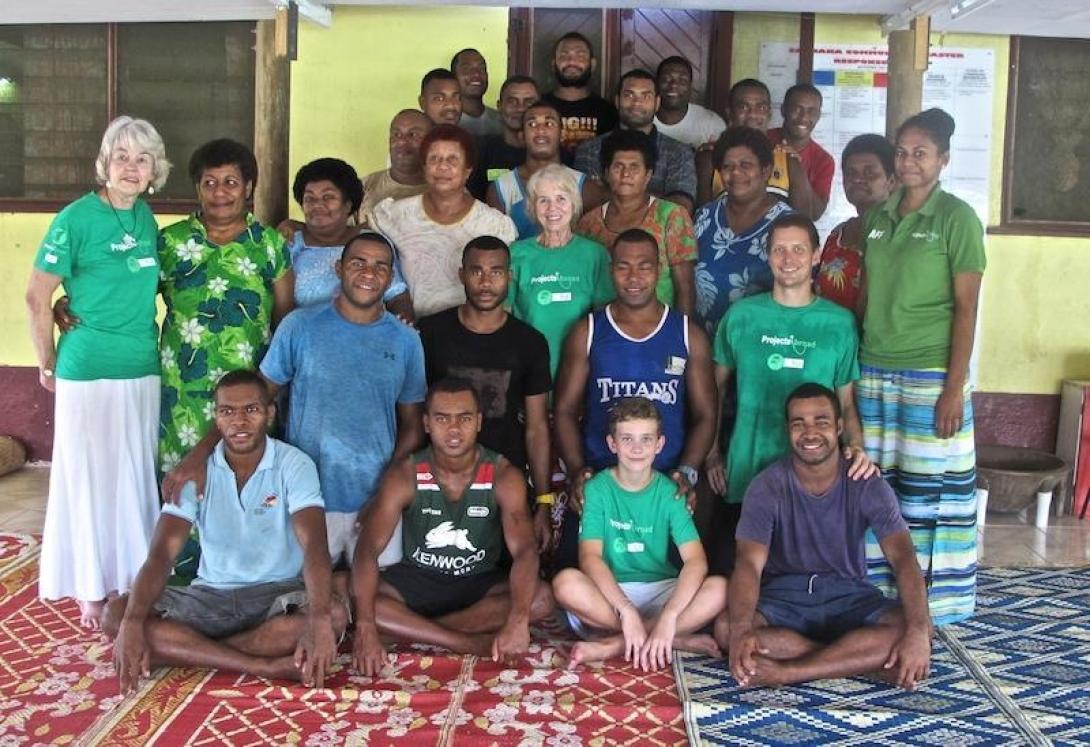 Older volunteers together on nutrition project in Fiji.